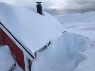 Mye snø i høyden
