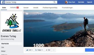 Turlagets Facebookside har fått 1000 følgere!