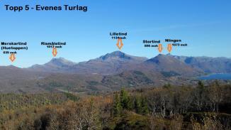 Topp 5 - turlagets satsing på toppturer i Evenes